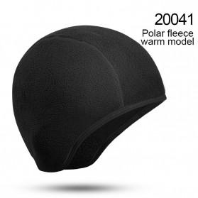 CoolChange Topi Kupluk Pelindung Rambut Olahraga Model Fleece Warm - 20041 - Black