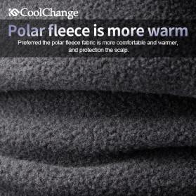 CoolChange Topi Kupluk Pelindung Rambut Olahraga Model Fleece Warm - 20041 - Black - 2