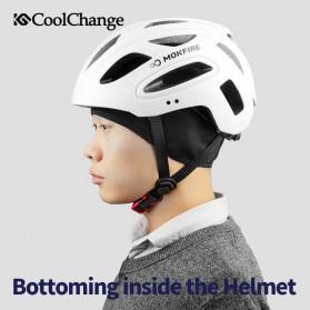 CoolChange Topi Kupluk Pelindung Rambut Olahraga Model Fleece Warm - 20041 - Black - 3