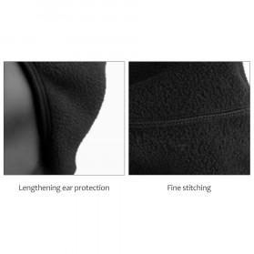CoolChange Topi Kupluk Pelindung Rambut Olahraga Model Fleece Warm - 20041 - Black - 6