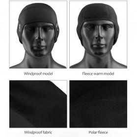 CoolChange Topi Kupluk Pelindung Rambut Olahraga Model Fleece Warm - 20041 - Black - 8