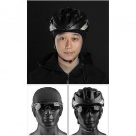 CoolChange Topi Kupluk Pelindung Rambut Olahraga Model Fleece Warm - 20041 - Black - 9