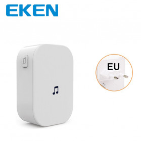 EKEN Receiver Bell Pintu Wireless Doorbell EU Plug for EKEN V5 V6 V7 433Mhz - F53 - White
