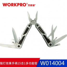 WORKPRO Tang EDC Multifungsi 15 in 1 - W014004 - Silver