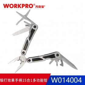 WORKPRO Tang EDC Multifungsi 15 in 1 - W014004 - Silver - 2