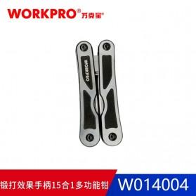 WORKPRO Tang EDC Multifungsi 15 in 1 - W014004 - Silver - 4