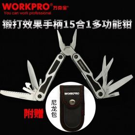 WORKPRO Tang EDC Multifungsi 15 in 1 - W014004 - Silver - 6