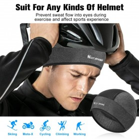WEST BIKING Topi Helm Sepeda Cycling Helmet Hat Running Riding Ice Silk Windproof - YP0201221 - Black - 3