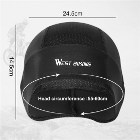 WEST BIKING Topi Helm Sepeda Cycling Helmet Hat Running Riding Ice Silk Windproof - YP0201221 - Black - 4