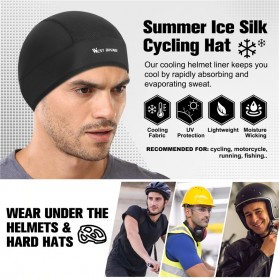 WEST BIKING Topi Helm Sepeda Cycling Helmet Hat Running Riding Ice Silk Windproof - YP0201221 - Black - 6