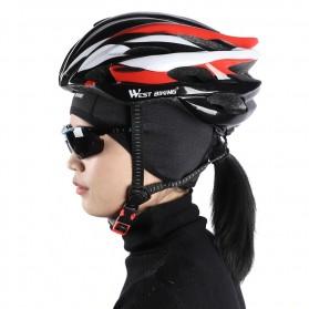 WEST BIKING Topi Helm Sepeda Cycling Helmet Hat Winter Thermal Fleece Model for Women - YP0201194 - Black - 2