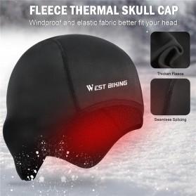 WEST BIKING Topi Helm Sepeda Cycling Helmet Hat Winter Thermal Fleece Model for Women - YP0201194 - Black - 5