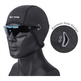 WEST BIKING Topi Helm Sepeda Cycling Helmet Hat Winter Thermal Fleece Model for Women - YP0201194 - Black - 7