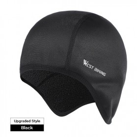 WEST BIKING Topi Helm Sepeda Cycling Helmet Hat Winter Thermal Fleece Model Thicken - YP0201183 - Black