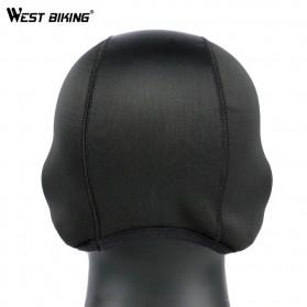 WEST BIKING Topi Helm Sepeda Cycling Helmet Hat Winter Thermal Fleece Model Thicken - YP0201183 - Black - 3