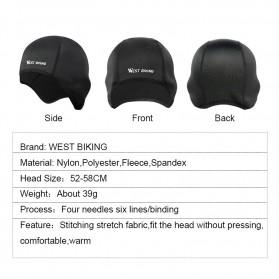WEST BIKING Topi Helm Sepeda Cycling Helmet Hat Winter Thermal Fleece Model Thicken - YP0201183 - Black - 5