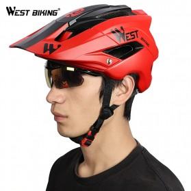 WEST BIKING Helm Sepeda Cycling Helmet Trail XC MTB - TK-YP0708078 - Black - 3