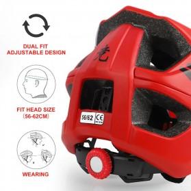 WEST BIKING Helm Sepeda Cycling Helmet Trail XC MTB - TK-YP0708078 - Black - 7