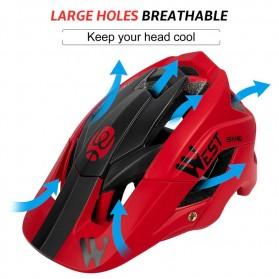 WEST BIKING Helm Sepeda Cycling Helmet Trail XC MTB - TK-YP0708078 - Black - 8