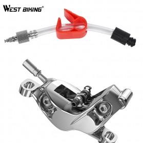 West Biking Alat Ganti Oli Rem Sepeda Oil Disc Brake Filling Joint for SRAM Brake - YP719 - Silver