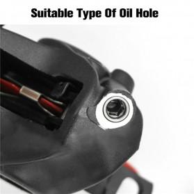 West Biking Alat Ganti Oli Rem Sepeda Oil Disc Brake Filling Joint for SRAM Brake - YP719 - Silver - 5