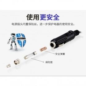 Qiangshen Pompa Angin Ban Mobil Handheld Air Compressor - QP238700 - Black/Yellow - 4