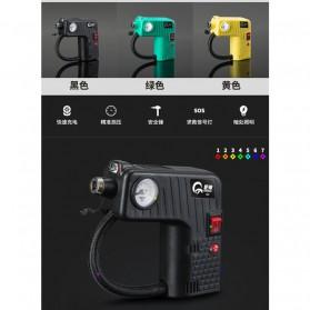 Qiangshen Pompa Angin Ban Mobil Handheld Air Compressor - QP238700 - Black/Yellow - 5