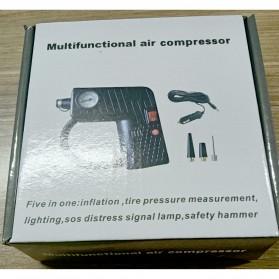 Qiangshen Pompa Angin Ban Mobil Handheld Air Compressor - QP238700 - Black/Yellow - 11