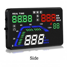 Digital Car LED HUD OBD2 Interface 5.5 Inch - Q7 - Black