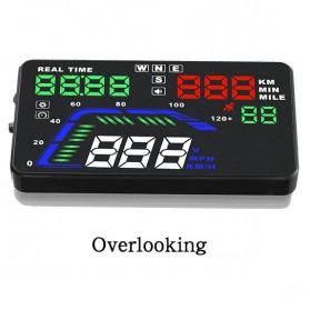 Digital Car LED HUD OBD2 Interface 5.5 Inch - Q7 - Black - 2