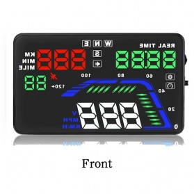 Digital Car LED HUD OBD2 Interface 5.5 Inch - Q7 - Black - 4