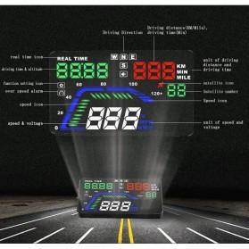 Digital Car LED HUD OBD2 Interface 5.5 Inch - Q7 - Black - 5