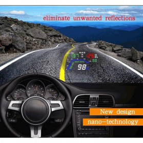 Digital Car LED HUD OBD2 Interface 5.5 Inch - Q7 - Black - 7