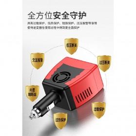 Power Car Inverter 75W 220V AC EU Plug with USB Charger 0.5A - Black/Red - 4