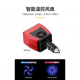 Power Car Inverter 75W 220V AC EU Plug with USB Charger 0.5A - Black/Red - 5