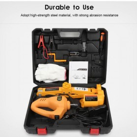 JINYUN TIANYANG Set Dongkrak Mobil Elektrik Hidrolik Portabel 12V 2 Ton - ROGTZ - Black/Yellow - 2