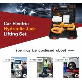 JINYUN TIANYANG Set Dongkrak Mobil Elektrik Hidrolik Portabel 12V 2 Ton - ROGTZ - Black/Yellow - 3