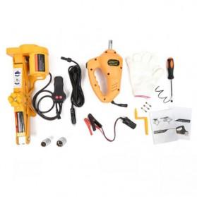 JINYUN TIANYANG Set Dongkrak Mobil Elektrik Hidrolik Portabel 12V 2 Ton - ROGTZ - Black/Yellow - 8