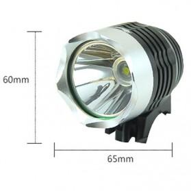 Headlamp Lampu Sepeda 2000 Lumens CREE XML - T6 - Black - 6