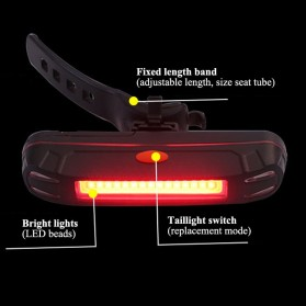 Zacro Backlamp Lampu Sepeda COB Tail Light - HYD-011 - Red - 8