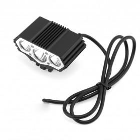 INFUN Lampu Sepeda Owl X3 LED CREE XML-T6 7500 Lumens USB Power - 4A27 - Black - 3