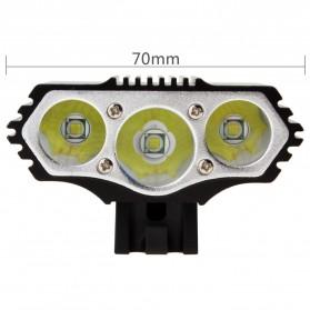 INFUN Lampu Sepeda Owl X3 LED CREE XML-T6 7500 Lumens USB Power - 4A27 - Black - 5