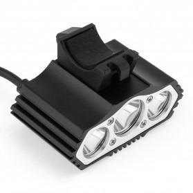 INFUN Lampu Sepeda Owl X3 LED CREE XML-T6 7500 Lumens USB Power - 4A27 - Black - 8