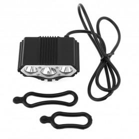 INFUN Lampu Sepeda Owl X3 LED CREE XML-T6 7500 Lumens USB Power - 4A27 - Black - 9