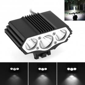 Lampu Sepeda Owl X3 LED CREE XML-T6 7500 Lumens - DC Power - Black