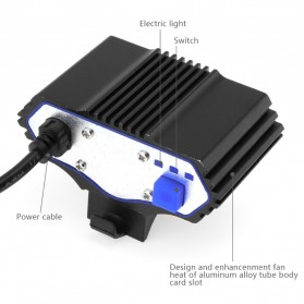 Lampu Sepeda Owl X3 LED CREE XML-T6 7500 Lumens - DC Power - Black - 7