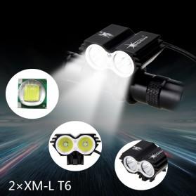 TaffLED Lampu Sepeda Owl X2 LED CREE XML-T6 7000 Lumens - USB Power - Black - 2