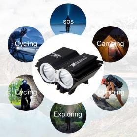 TaffLED Lampu Sepeda Owl X2 LED CREE XML-T6 7000 Lumens - USB Power - Black - 3