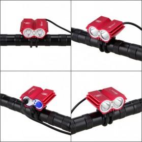 TaffLED Lampu Sepeda Owl X2 LED CREE XML-T6 7000 Lumens - USB Power - Black - 6
