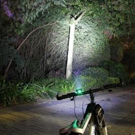 TaffLED Lampu Sepeda Owl X2 LED CREE XML-T6 7000 Lumens - USB Power - Black - 7
